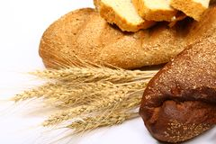 Bread studio isolated on white Stock Image