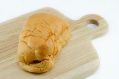 Bread stuffed with sausage Stock Photography