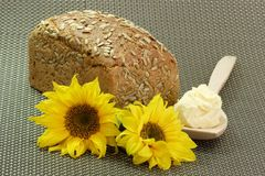 Bread and Sunflower Oleo Royalty Free Stock Image