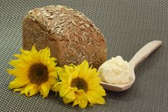 Bread with Sunflower Oleo Stock Photography