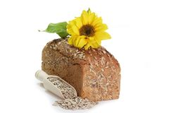 Bread with Sunflower Seed Stock Images