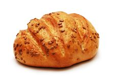 Bread with sunflower seeds Stock Images