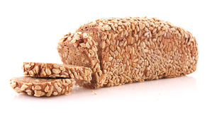 Bread with sunflower seeds isolated Stock Image