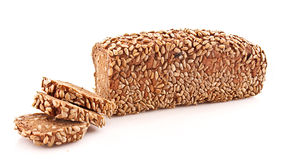 Bread with sunflower seeds isolated Royalty Free Stock Photos