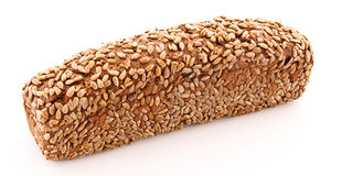 Bread with sunflower seeds isolated Royalty Free Stock Photography