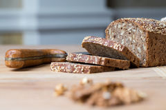 Bread with sunflower seeds Royalty Free Stock Photos