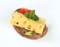 Bread and Swiss cheese Royalty Free Stock Photo