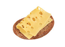 Bread and Swiss cheese Royalty Free Stock Photos
