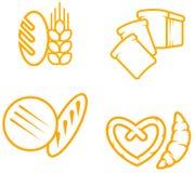 Bread symbols. Set of bread and bakery symbols for design royalty free illustration