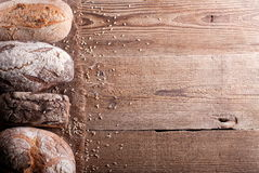 Bread on the table ab Royalty Free Stock Images