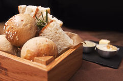 Bread on a table in restaurant Royalty Free Stock Photos