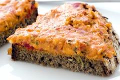 Bread with tasty spread Stock Photo