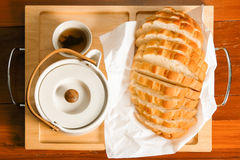 Bread and tea Stock Photo
