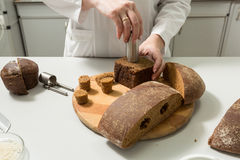 Bread tests in a laboratory Stock Photography