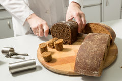 Bread tests in a laboratory Stock Image