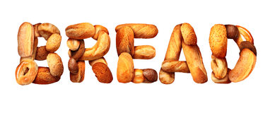 Bread Text Royalty Free Stock Photos