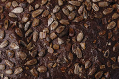 Bread texture. With sunflower seed Royalty Free Stock Images