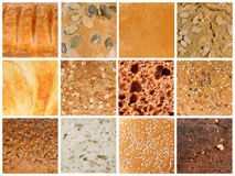 Bread textures Royalty Free Stock Photography