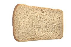 Bread toast. Isolated over white Royalty Free Stock Photo