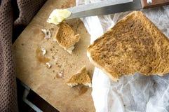 Bread toast in kitchen Stock Photos