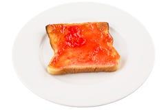 Bread Toast With Strawberry Jam I Royalty Free Stock Image