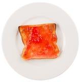 Bread Toast With Strawberry Jam II Stock Photo