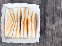 Bread toast with sugar Stock Image