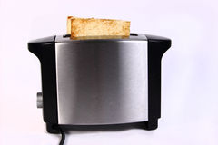 Bread Toast in Toaster Machine Stock Images