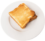 Bread Toast On White Plate I Stock Images