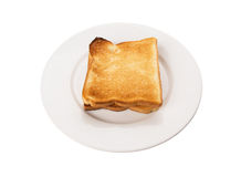 Bread Toast On White Plate IV Stock Photography