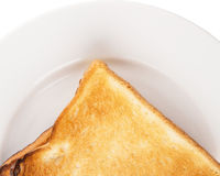 Bread Toast On White Plate V Royalty Free Stock Images