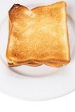 Bread Toast On White Plate X Royalty Free Stock Images