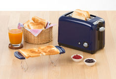 Bread toaster 2. Bread toaster the important kitchenware to makes sandwich or toast the breads Royalty Free Stock Photos