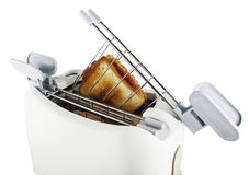 Bread toaster. On the white background Royalty Free Stock Photos