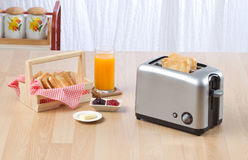 Bread toaster. The kitchenware you need for preparing your breakfast Stock Image