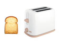 Bread toaster appliance. Isolated on white background Stock Photo