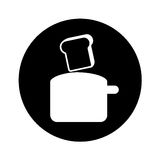Bread toaster kitchen utensil isolated icon Royalty Free Stock Photography