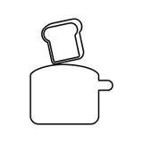 Bread toaster kitchen utensil isolated icon Stock Photography
