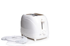 Bread toaster  on the white background.  Royalty Free Stock Photos