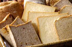 Bread toasts. Slices of bread toasts background Royalty Free Stock Photo