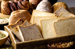 Bread toasts. Slices of bread toasts-cloe up Royalty Free Stock Photos