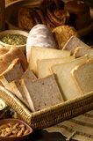 Bread toasts. Slices of bread toasts-cloe up Stock Images