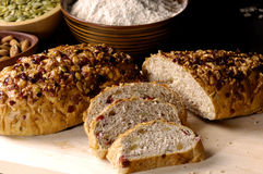 Bread toasts. Loaf  of bread toasts-cloe up Stock Photo