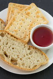 Bread and toasts with jam Royalty Free Stock Photography
