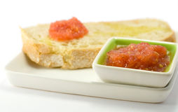 Bread with tomato Royalty Free Stock Photo