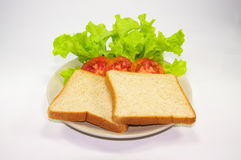 Bread. And tomato and Lettuce Stock Image