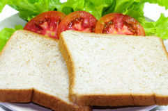 Bread. And tomato and lettuce Royalty Free Stock Photo