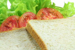 Bread. And tomato and Lettuce Royalty Free Stock Photography