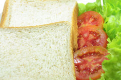 Bread. And tomato and Lettuce Royalty Free Stock Photos