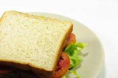 Bread. And tomato and Lettuce Royalty Free Stock Image